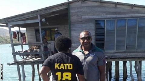 Stanley Gene with Kato Ottio's mother Joyce