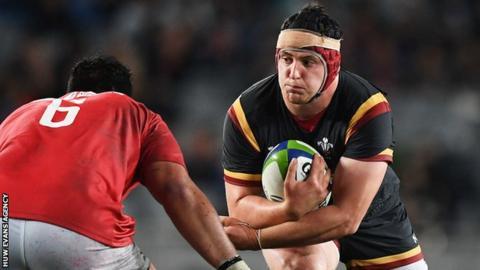 Ryan Elias made his Wales debut against Tonga in June 2017