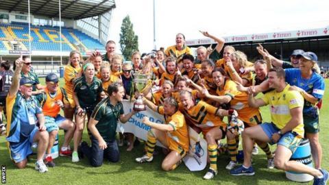 Australia celebrate winning the 2013 tournament