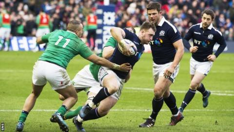 Scotland and Ireland players