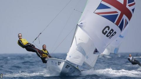 Helm Hannah Mills and crew Eilidh McIntyre had gone into the Santander event with only three days practice together