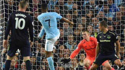 Raheem Sterling scores Manchester City's equaliser