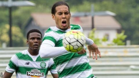 Celtic defender Virgil van Dijk