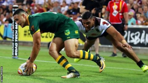 Australia rout Fiji 54-6 as Valentine Holmes bags SIX tries