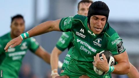 Ultan Dillane touched down for Connacht's third try in first-half injury-time