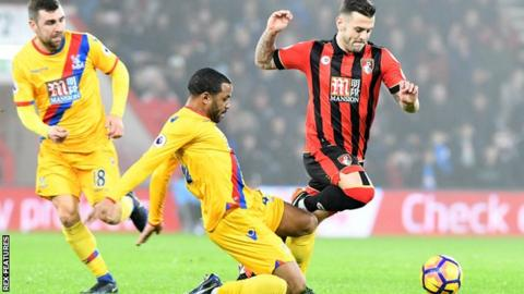 Jack Wilshere (right) in action for Bournemouth