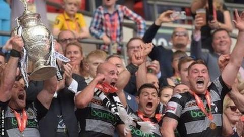 Hull FC won the Challenge Cup for the second successive year at Wembley in 2017 against record 19-times winners Wigan