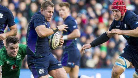Scotland prop Allan Dell in action against Ireland at Murrayfield
