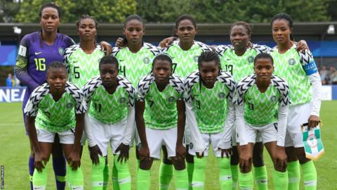 Nigeria's women's Under-20 team at the World Cup