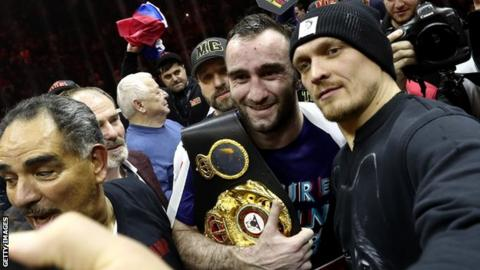 Gassiev (left) won through his WBSS semi-final in February, while Usyk did so a month earlier