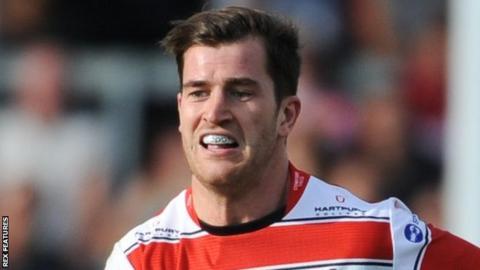 Gloucester Rugby centre Mark Atkinson
