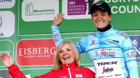 Lizzie Deignan is on course to the race's best British rider