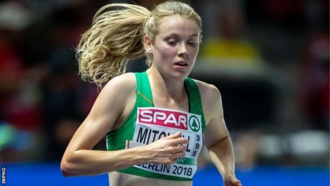 Emma Mitchell in action for Ireland at last summer's European Championships in Berlin