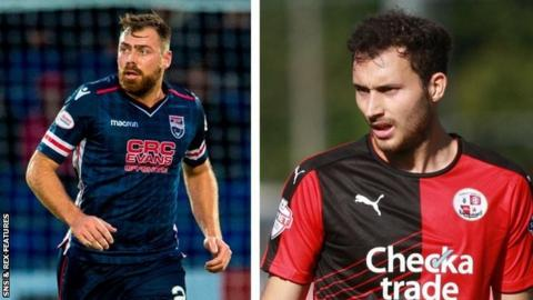 Former Ross County defender Kenny van der Weg and former Crawley Town midfielder Ross Jenkins