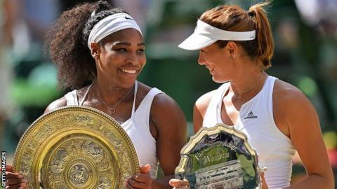 Serena Williams and Garbine Muguruza