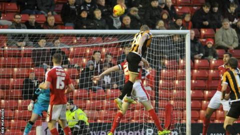 Ajay Leitch-Smith heads Port Vale ahead at Barnsley