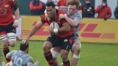 Jersey v London Welsh action