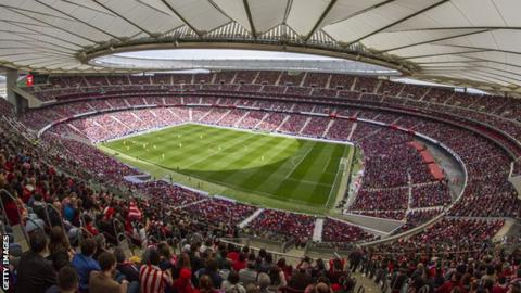 A record crowd at the Wanda Metropolitano for Atletico Madrid women versus Barcelona women