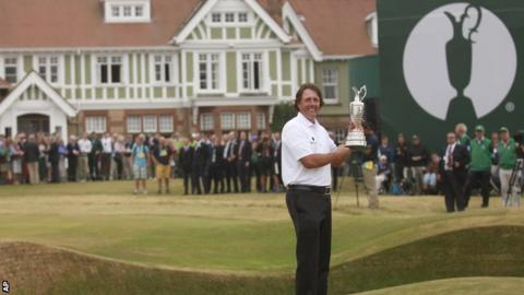 Phil Mickelson won the Open when it was staged at Muirfield in 2013