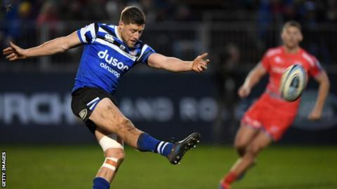 Former Wales fly-half Rhys Priestland kicked 11 points to guide Bath to victory