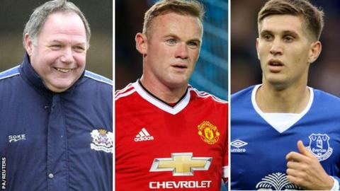 Barry Fry, Wayne Rooney and John Stones