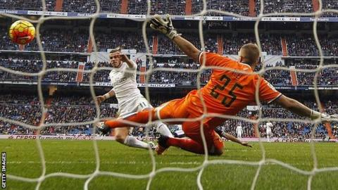 Gareth Bale was substituted after scoring his fourth goal