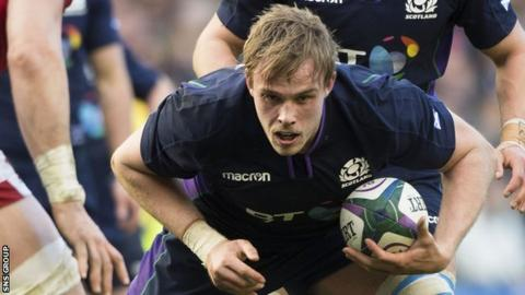 Finn Russell Jonny Gray makes his first appearance of the summer against Georgia at Murrayfield