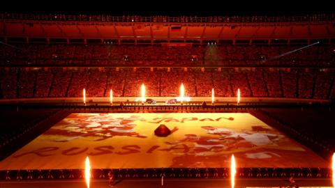 Chofu, Japan, 20 September: General view inside the stadium during the Opening Ceremony prior to the Rugby World Cup 2019 Group A game between Japan and Russia at the Tokyo Stadium. (Photo by Adam Pretty/Getty Images)