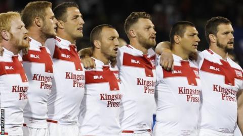 England rugby league side against Samoa