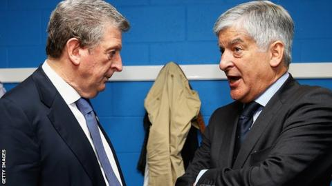 Roy Hodgson and David Bernstein