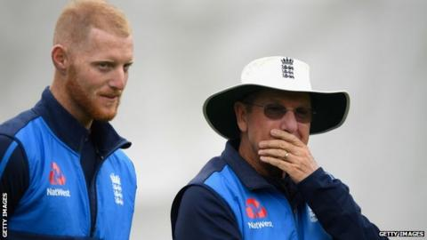 Ben Stokes and Trevor Bayliss
