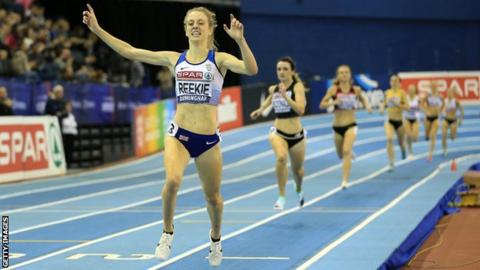 Jemma Reekie claimed victory in the 1500m