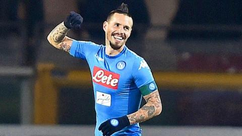 Hamsik ties Maradona's all-time Napoli scoring record