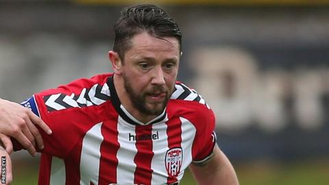 Rory Patterson's 14th goal of the season brought Derry level just before half-time