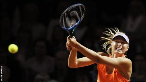 Maria Sharapova hit nine aces and 29 winners against Makarova