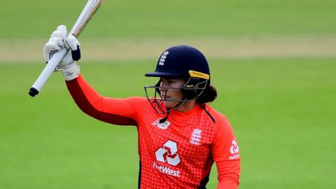 Tammy Beaumont celebrates her half-century