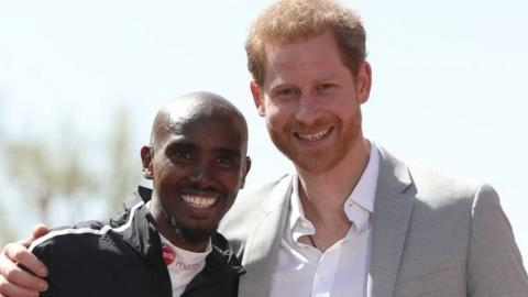 Mo Farah and Prince Harry