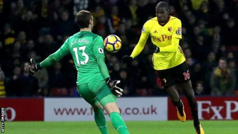 Abdoulaye Doucoure equalises for Watford