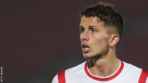 Jordan Houghton plays for Doncaster Rovers against Shrewsbury Town at the Keepmoat