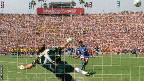 Roberto Baggio blazes over