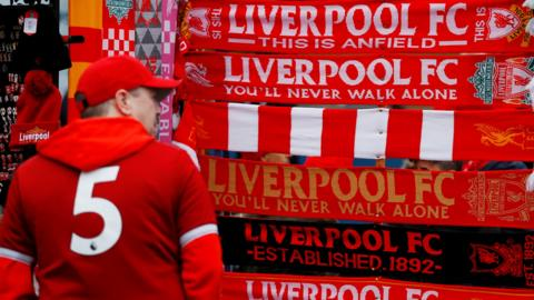 Liverpool fan at Anfield