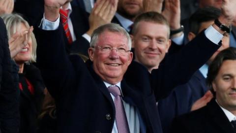 Sir Alex Ferguson at Old Trafford