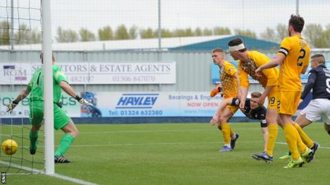 Paul Watson scores for Falkirk against Greenock Morton