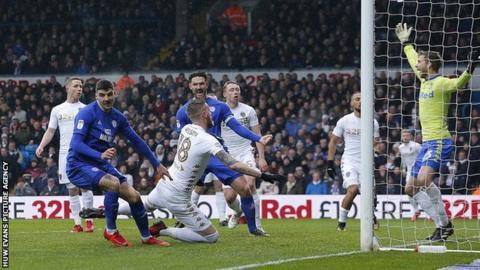 Sean Morrison scores Cardiff's City's third goal