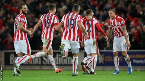 Stoke City players