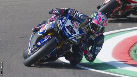 World Superbikes: Alex Lowes gets first win as Jonathan Rea