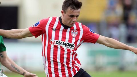 Mark Timlin scored twice in Derry's City's 4-0 win over Galway United