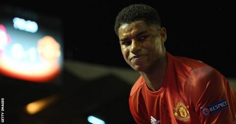 Man Utd striker Marcus Rashford