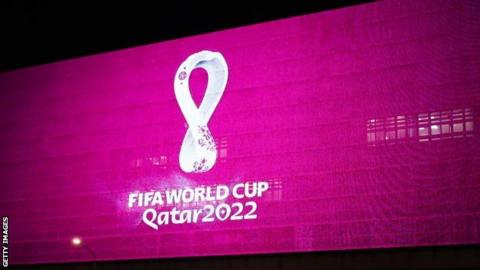 The logo for 2022 World Cup in Qatar