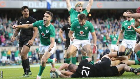 Ireland beat New Zealand 40-29 at Soldier Field in November 2016